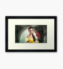 Emma Watson + Beauty and the Beast Framed Print