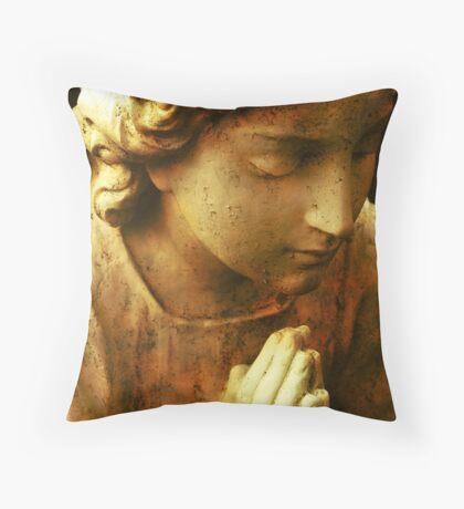 Praying Angel Throw Pillow