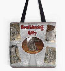 Breakdancing Kitty Tote Bag