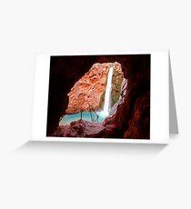 Moony Falls Tunnel Greeting Card