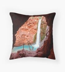 Moony Falls Tunnel Throw Pillow