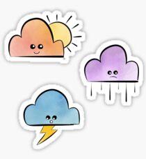 Pretty little clouds Sticker