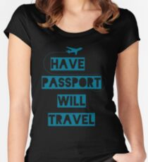 Have Passport Will Travel | backpacking Women's Fitted Scoop T-Shirt