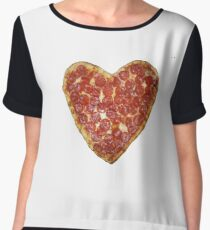 Pizza Women's Chiffon Top