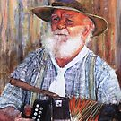 The Accordian man by Lyn Green