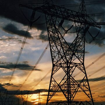 powerline sunset by blackbear