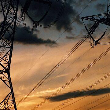 powerline sunset 2 by blackbear