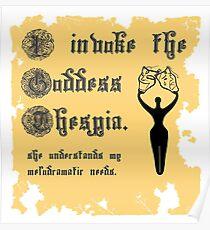 I Invoke the Goddess Thespia Poster