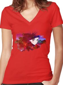 RWBY Ruby Rose Women's Fitted V-Neck T-Shirt