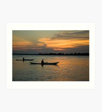 Paddling Thru The Sun Art Print