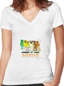 Overnight at Hugo's - Scratch Hororr Game Women's Fitted V-Neck T-Shirt