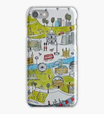 City map in green iPhone Case/Skin