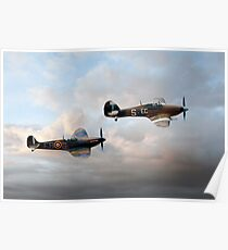 Supermarine Spitfire and Hawker Hurricane Poster