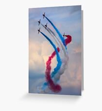 Red Arrows Twister Greeting Card