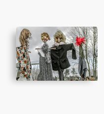 Scarecrow in human clothes Canvas Print