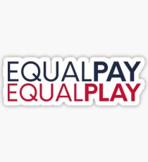 equal pay for equal play Sticker