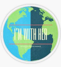 Ich bin bei ihr Transparenter Sticker