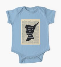 Peter Pan Over Vintage Dictionary Page - To Live One Piece - Short Sleeve