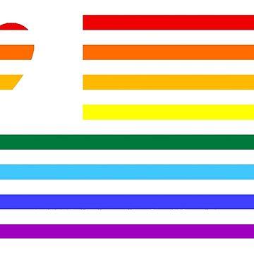 USA LGBT Pride - Bandera americana AMOR de PixelatedPixels