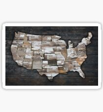 USA States Map - White Sticker
