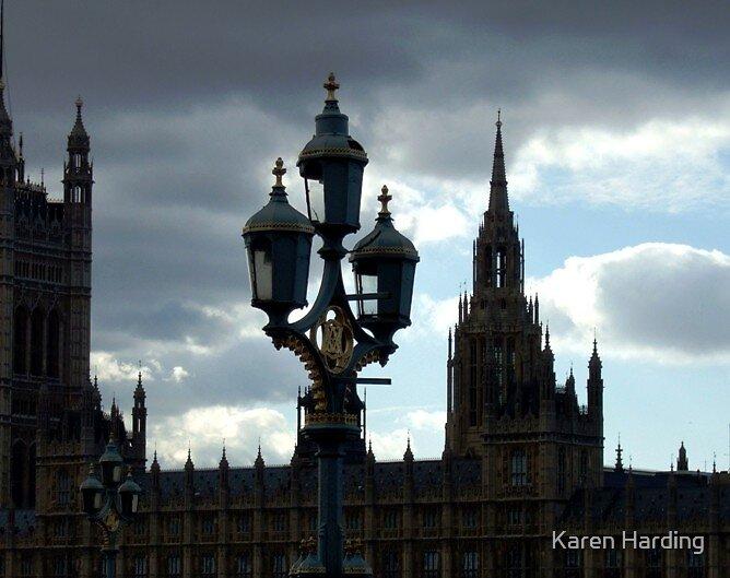 Evening outside Parliment  by Karen Harding