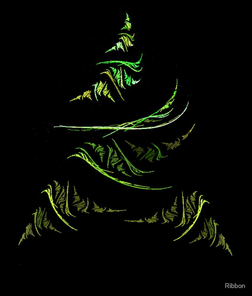 Christmas Tree Green by Ribbon