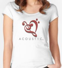 Acoust1c Heart Women's Fitted Scoop T-Shirt