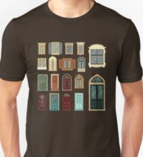 Architectural Set of European Vintage Doors and Windows T-Shirt