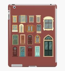 Architectural Set of European Vintage Doors and Windows iPad Case/Skin