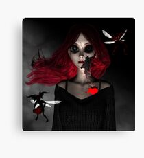 Broken Porcelain Doll Canvas Print