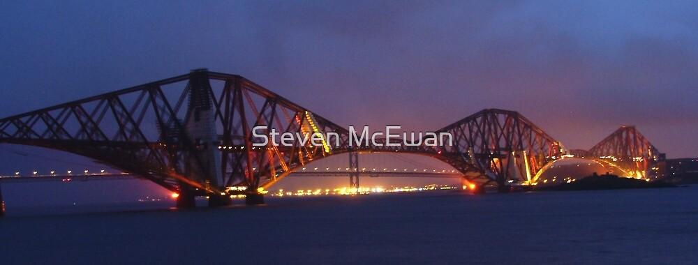 The Forth Bridge at Dusk by Steven McEwan