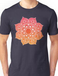 Mandala orange red Unisex T-Shirt