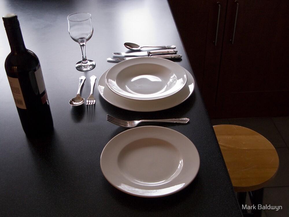 Dinner alone by Mark Baldwyn