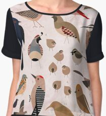 Sonoran Birds Chiffon Top