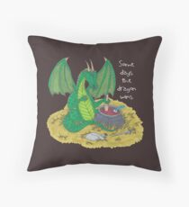 Some Days the Dragon Wins Throw Pillow