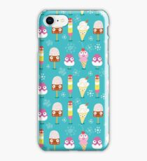 funny pattern of ice cream iPhone Case/Skin