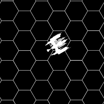 Ship Over Hex Board - White by lecase19
