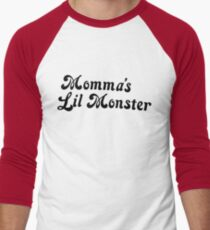 Momma's Lil Monster Men's Baseball ¾ T-Shirt