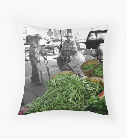 Beans for sale Throw Pillow