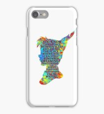 Colorful Watercolor Peter Pan Quote  - That Place iPhone Case/Skin