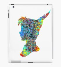 Colorful Watercolor Peter Pan Quote  - That Place iPad Case/Skin