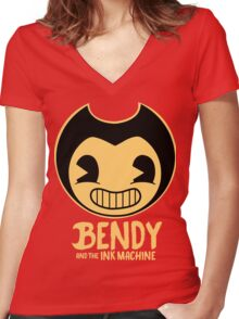 Bendy and the Ink Machine Horror Cartoon T Shirt and More! Women's Fitted V-Neck T-Shirt