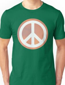 peace sign orange sky Unisex T-Shirt