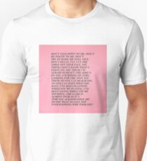 dont talk down to me Unisex T-Shirt