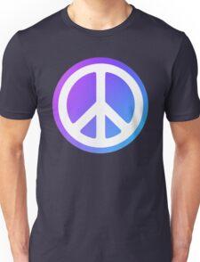 Peace Sign blue purple Unisex T-Shirt