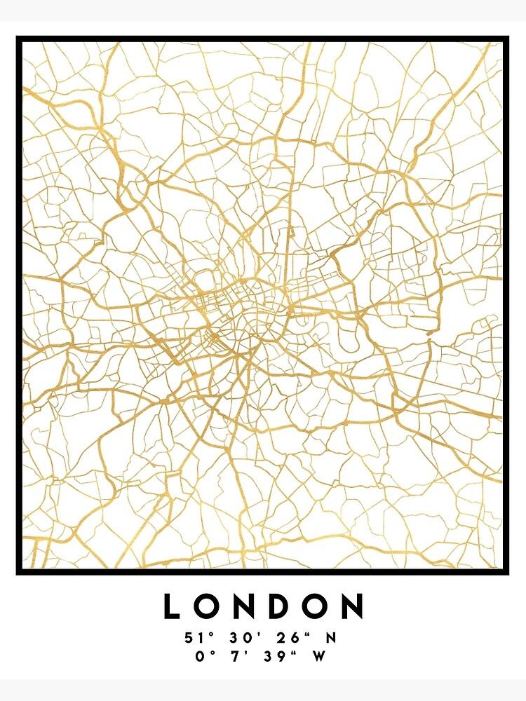 LONDON ENGLAND CITY STREET KARTE ART von deificusArt