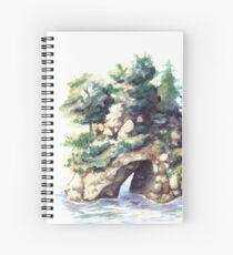 Fairy Island - Watercolor Landscape Spiral Notebook