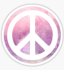 peace sign pink purple watercolor Sticker