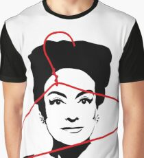 Joan Crawford portrait, black with red wire hanger Graphic T-Shirt