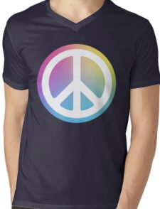peace sign rainbow Mens V-Neck T-Shirt